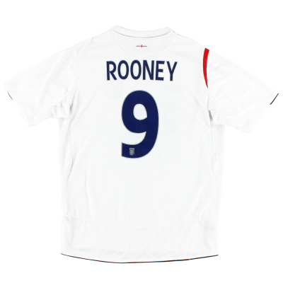 2005-07 England Home Shirt Rooney #9 L