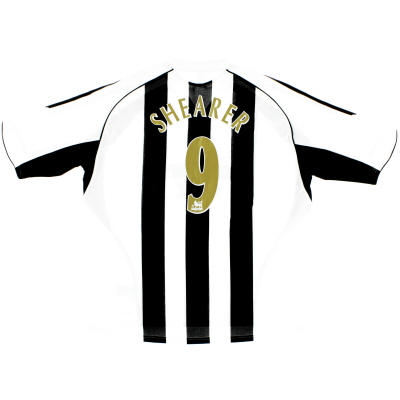 2005-07 Newcastle Home Shirt Shearer #9 XXL