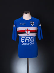 2005-07 Sampdoria Player Issue Home Shirt M