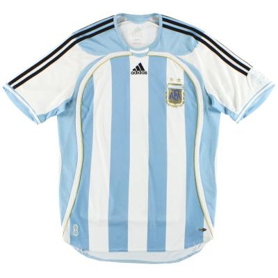 2006-07 Argentina adidas Home Shirt L