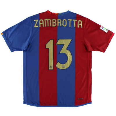 2006-07 Barcelona Home Shirt Zambrotta #13 L