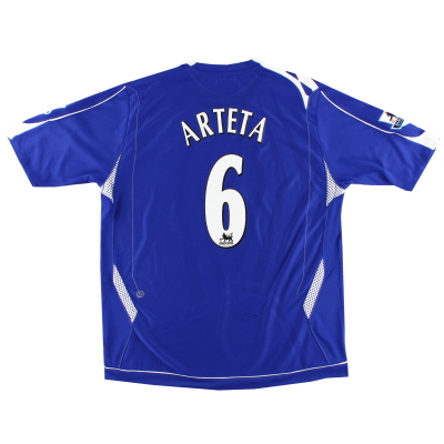 2006-07 Everton Home Shirt Arteta #6 XL