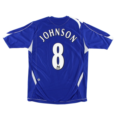 2006-07 Everton Home Shirt Johnson #8 M