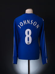 2006-07 Everton Home Shirt Johnson #8 L/S XL