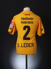 2006-07 FC Schaffhausen Match Issue Shirt S. Leder #2