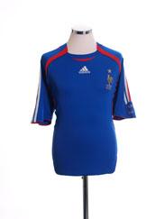 2006-07 France Home Shirt L