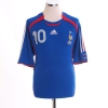 2006-07 France Home Shirt Zidane #10 L