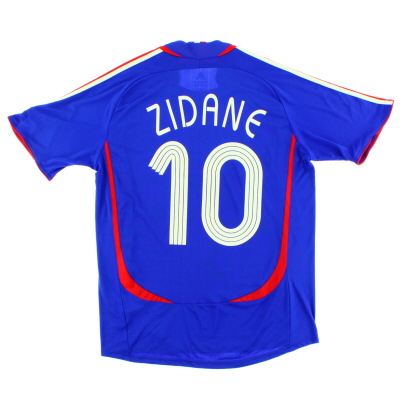 2006-07 France Home Shirt Zidane #10 M