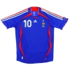 2006-07 France Home Shirt Zidane #10 M