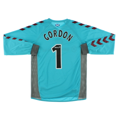 2006-07 Hearts Goalkeeper Shirt Gordon #1 M