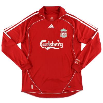 2006-07 Liverpool adidas Home Shirt L/S M