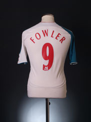 2006-07 Liverpool Third Shirt Fowler #9 XL.Boys