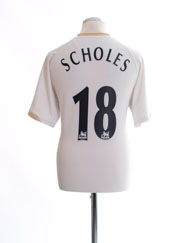 2006-07 Manchester United Away Shirt Scholes #18 M