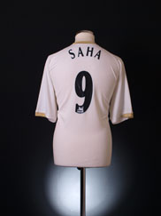 2006-07 Manchester United Away Shirt Saha #9 *Mint* XL