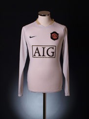 2006-07 Manchester United Away Shirt L/S M.Boys