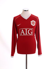 2006-07 Manchester United Home Shirt L/S M