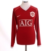 2006-07 Manchester United Home Shirt Carrick #16 L/S XXL