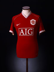 2006-07 Manchester United Home Shirt XL