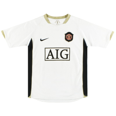 2006-07 Manchester United Nike Away Shirt M.Boys