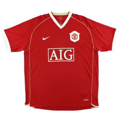 2006-07 Manchester United Nike Home Shirt XL