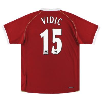 2006-07 Manchester United Nike Home Shirt Vidic #15 M