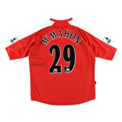 2006-07 Middlesbrough Match Issue Home Shirt McMahon #29 XL