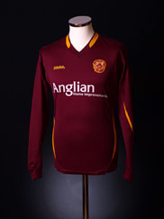 2006-07 Motherwell Away Shirt *L/S* M