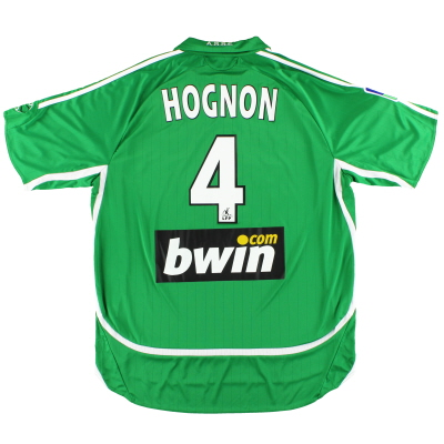 2006-07 Saint Etienne adidas Match Issue Home Shirt Hognon #4 XL