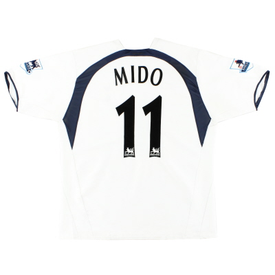 2006-07 Tottenham Match Issue Home Shirt Mido #11 XL