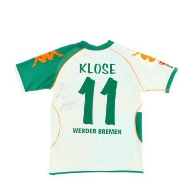 2006-07 Werder Bremen Match Issue Signed Home Shirt Klose #11 L