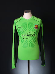 2006-07 West Ham Goalkeeper Shirt *As New* L