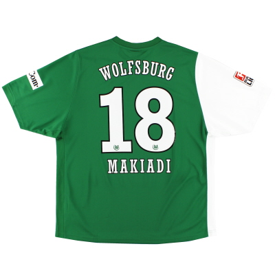2006-07 Wolfsburg Home Shirt Makiadi #18 XL