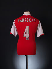 2006-08 Arsenal Home Shirt Fabregas #4 L