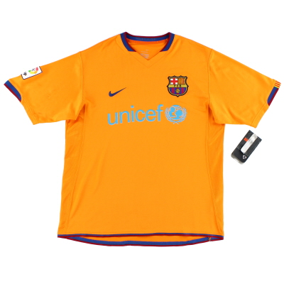 2006-08 Barcelona Away Shirt *BNWT* L