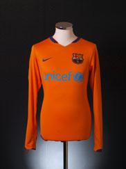 2006-08 Barcelona Away Shirt L/S S