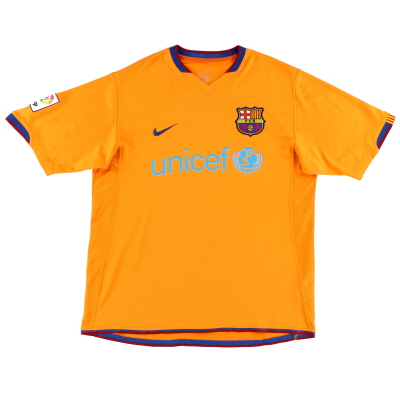 2006-08 Barcelona Away Shirt M