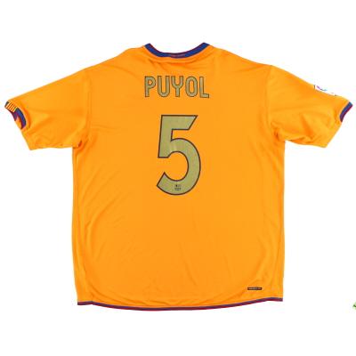 2006-08 Barcelona Away Shirt Puyol #5 XXL