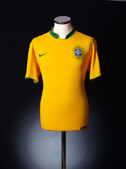 2006-08 Brazil Home Shirt *As New* L