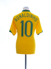 2006-08 Brazil Home Shirt Ronaldinho #10 M