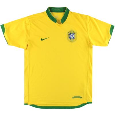 2006-08 Brazil Nike Home Shirt L