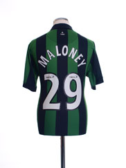 2006-08 Celtic Away Shirt Maloney #29 M