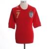 2006-08 England Away Shirt Beckham #7 XXL