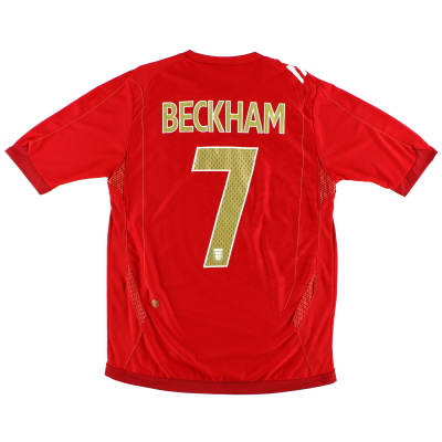 2006-08 England Away Shirt Beckham #7 S