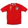 2006-08 England Away Shirt Beckham #7 S