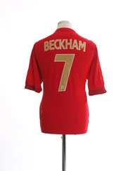 2006-08 England Away Shirt Beckham #7 *Mint* L