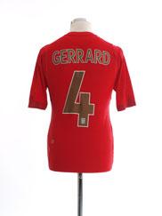 2006-08 England Away Shirt Gerrard #4 S