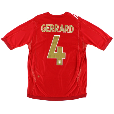 2006-08 England Away Shirt Gerrard #4 *Mint* M