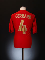 2006-08 England Away Shirt Gerrard #4 M