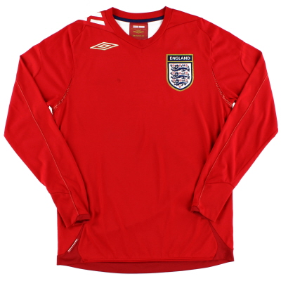 2006-08 England Away Shirt L/S S