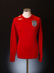 2006-08 England Away Shirt L/S XL.Boys